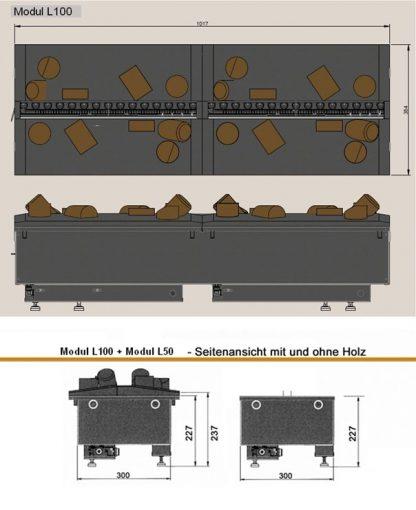 Modul L 100 de Luxe Elektrokamineinsatz