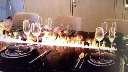 Esstisch mit Feuermodul