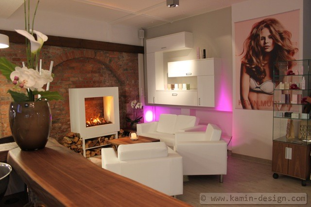 linea raumteilerkamin mit zuschaltbarer heizung kamin. Black Bedroom Furniture Sets. Home Design Ideas