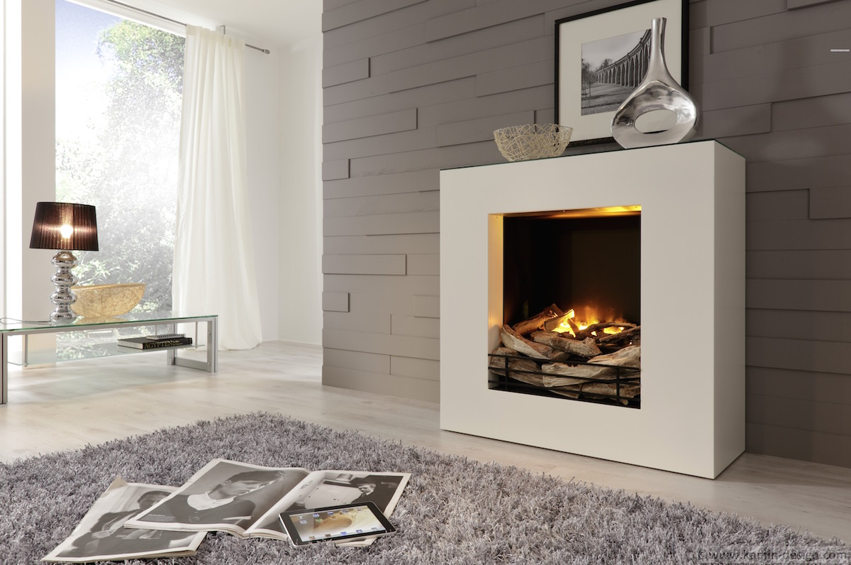linea el sthz elektrokamin mit zuschaltbarer heizung und zus tzlicher reling kamin. Black Bedroom Furniture Sets. Home Design Ideas