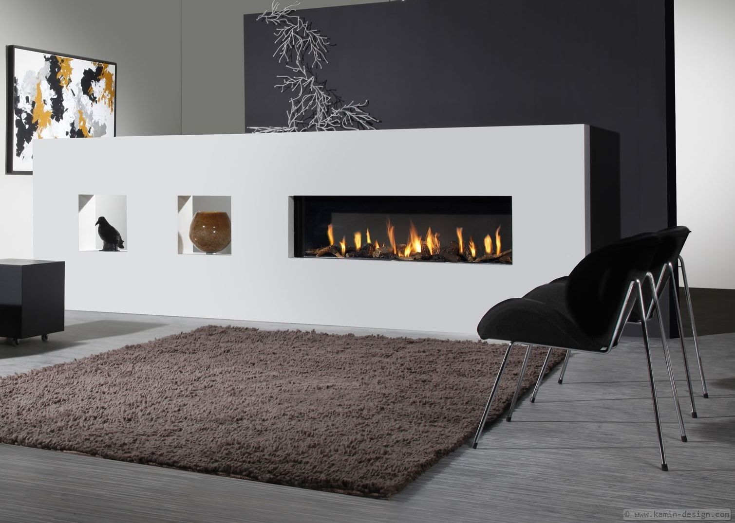 sonderanfertigung raumteilerkamin als elektrokamin oder. Black Bedroom Furniture Sets. Home Design Ideas