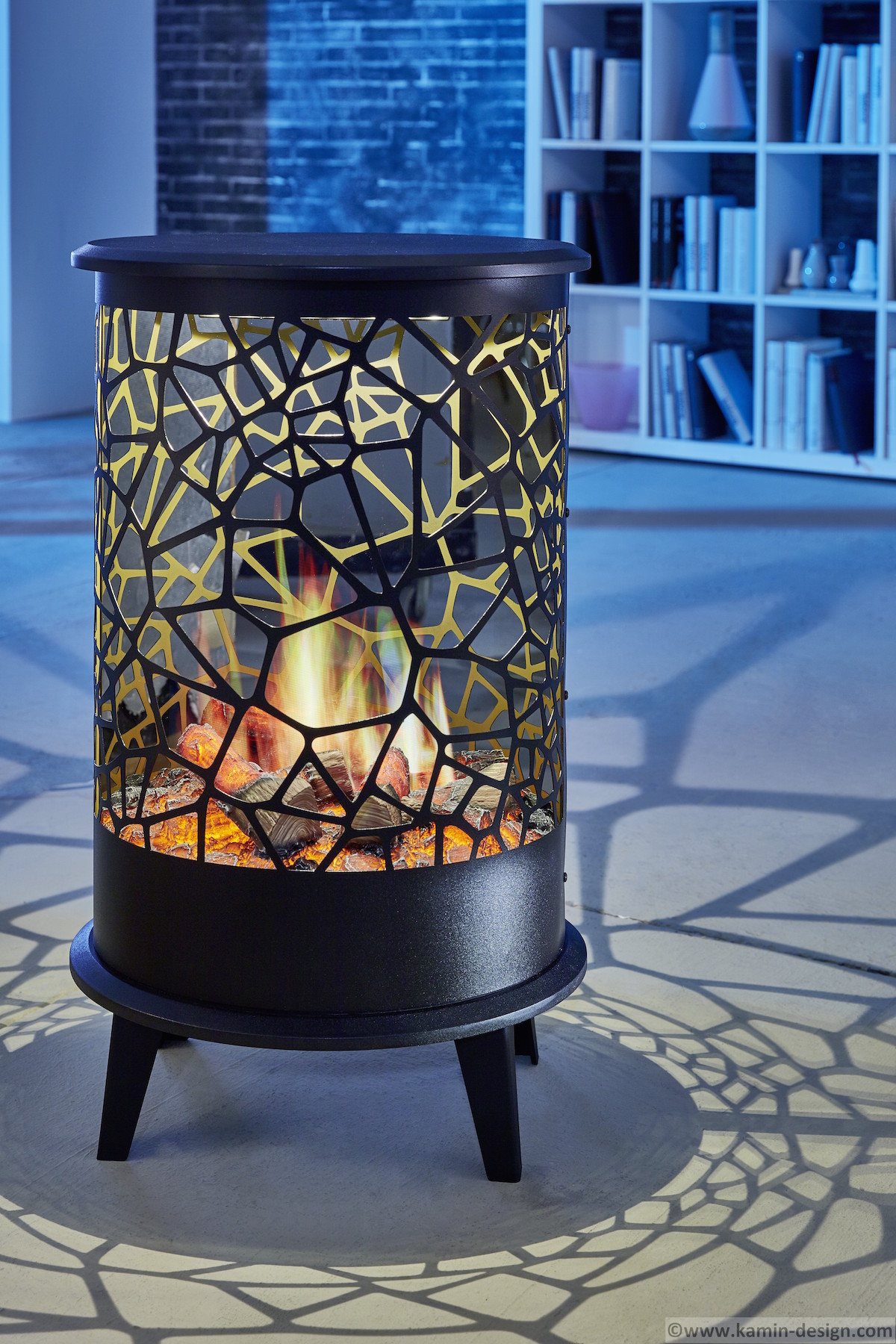 vulcano one effektfeuer opti v 360 kamin. Black Bedroom Furniture Sets. Home Design Ideas