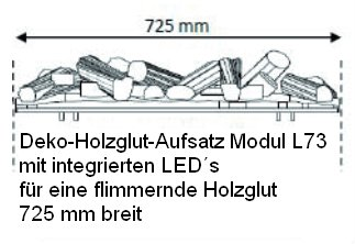 Modul L73 de Luxe Kamineinsatz Opti-myst-Berlin-Hamburg-München