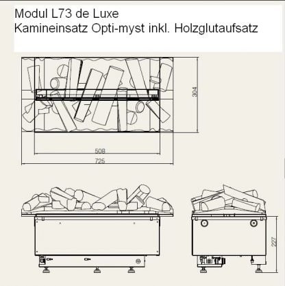 Modul L73 de Luxe Kamineinsatz Opti-myst
