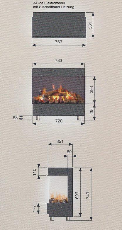 Modul 3side Cassette L mit zuschaltbarer Heizung