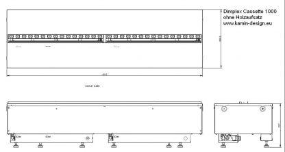 Dimplex Cassette 1000 commercial Kamineinsatz ohne Holzglutauflage