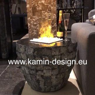 Kamintisch mit Dimplex Opti-myst Feuer