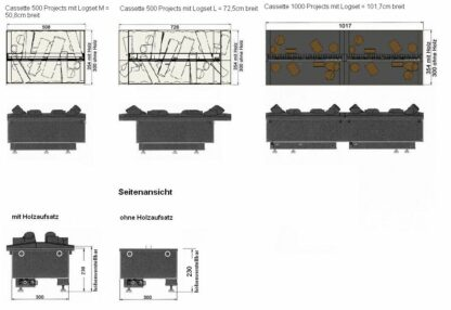 Dimplex Cassette 1000 Projects Elektrokamin Einsatz Skizze
