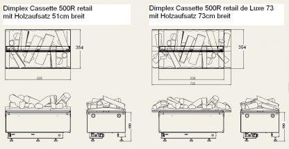 Dimplex Cassette 500R retail de Luxe 73 Skizze