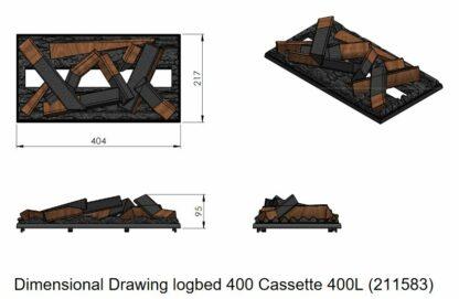 Holzauflage 41cm Dimplex Cassette 400LED