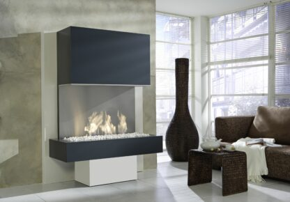 Milano - Panoramakamin mit 3-Sided Electric Fire